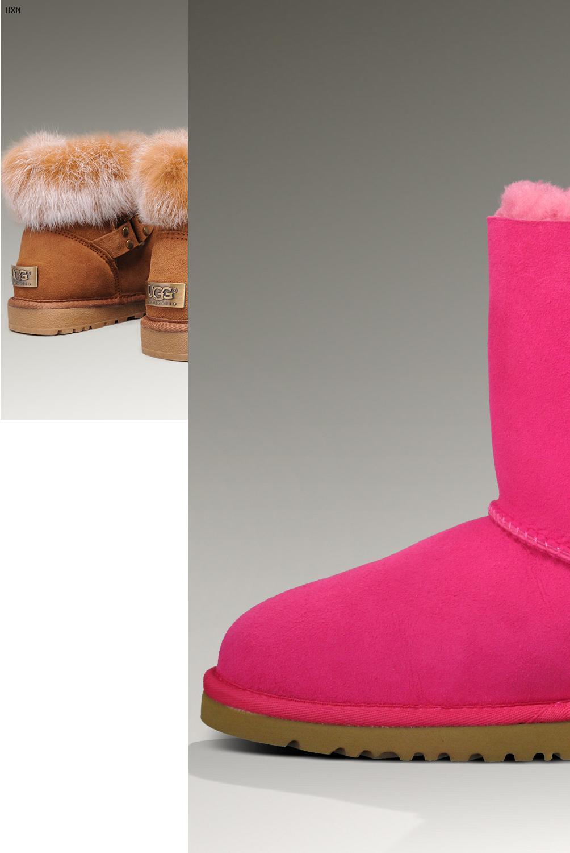 ugg boots bailey button damen merinowolle schwarz 5803